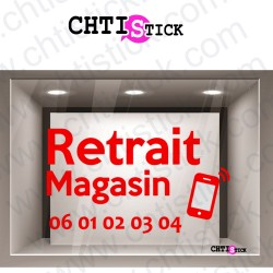 AUTOCOLLANT RETRAIT MAGASIN TEL
