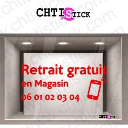 AUTOCOLLANT RETRAIT MAGASIN TEL2
