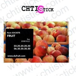 AUTOCOLLANT PRODUCTEUR FRUITS
