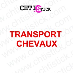 AUTOCOLLANT LIVRAISON CHEVAUX avec FOND