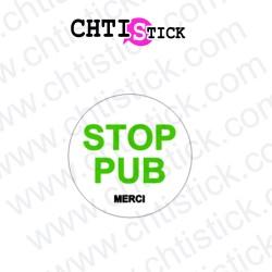 AUTOCOLLANT STOP PUB VERT
