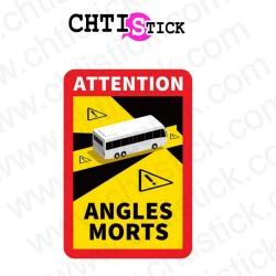 AUTOCOLLANT ANGLES MORTS BUS