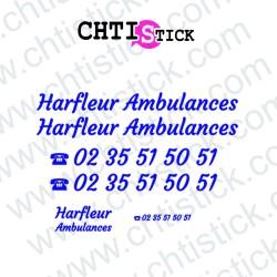 MARQUAGE AMBULANCES HARFLEUR GV