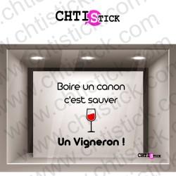 STICKERS BOIRE UN CANON 3L