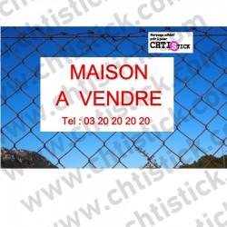 ADHESIF pour PANNEAU MAISON A VENDRE