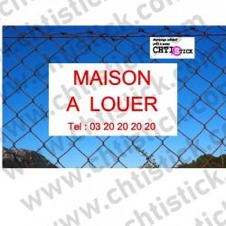 ADHESIF pour PANNEAU MAISON A LOUER