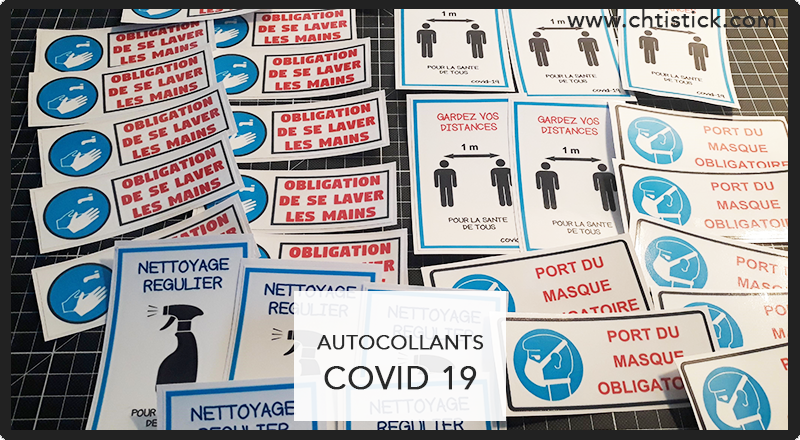 Autocollant COVID