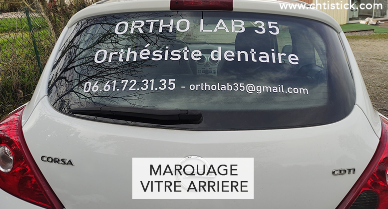 MARQUAGE VITRE ARRIERE
