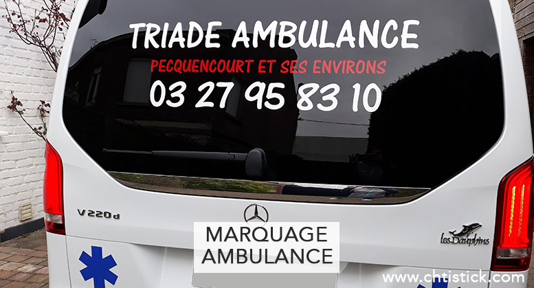 MARQUAGE AMBULANCE